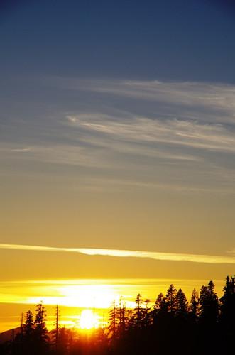 太陽が沈む瞬間