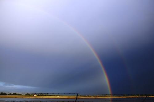 お別れの虹