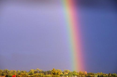 この虹は、天使からの祝福